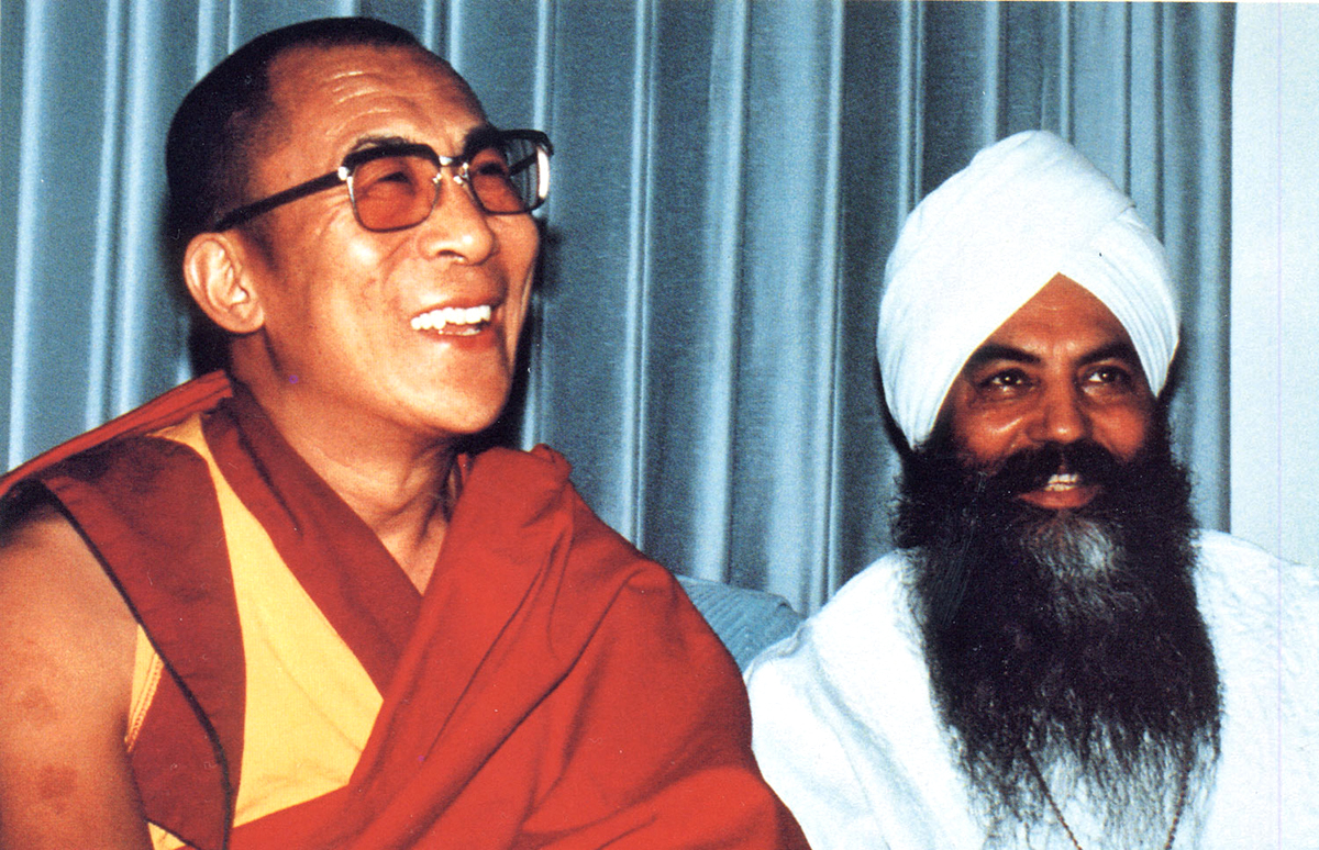 Yogi Bhajan en de Dalai Lama