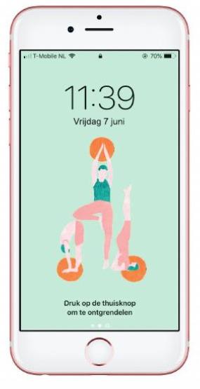 yoga achtergrond voor telefoon mindful mobiel