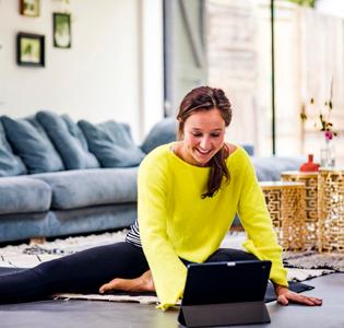 Doe thuis online yoga met Yogatv