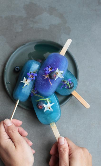 recept blauwe thee ijsjes