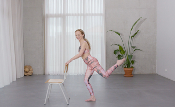 Barre Pilates work-out