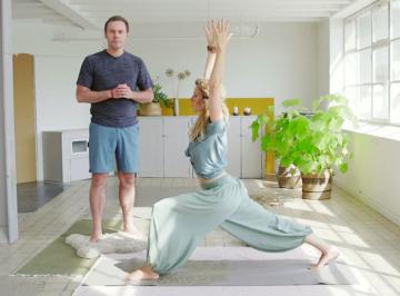 Mindful yoga met Johan en Mariken