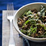 'Cheesy' wilde rijst met boerenkool