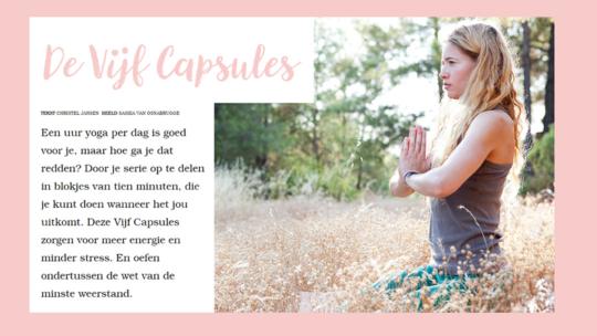 De vijf capsules