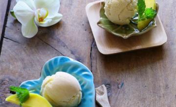Vegan ijs volgens een verlicht recept